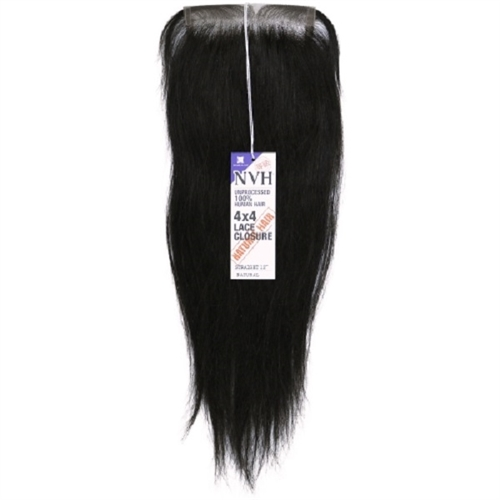 """Unprocessed 100% Human Hair Weave 4X4 Lace Closure Straight 12"""""""