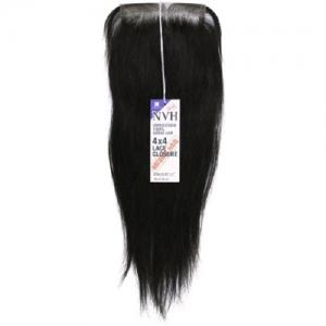 Unprocessed 100% Human Hair Weave 4X4 Lace Closure Straight 12""