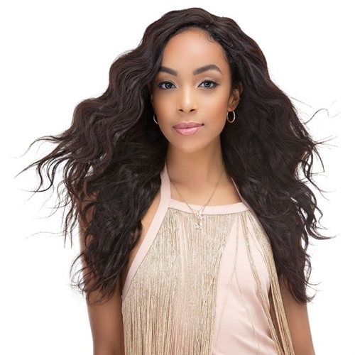 Janet Collection 100% Unprocessed Natural Brazilian Virgin Human Hair - 13X4 TEMPLE LACE BUNDLE BODY WAVE (18,20,22)