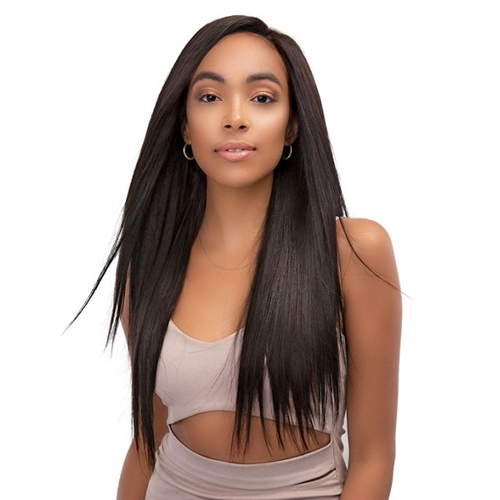 Janet Collection 100% Unprocessed Natural Brazilian Virgin Human Hair - 13X4 TEMPLE LACE BUNDLE STRAIGHT (16,18,20)