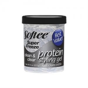 Softee Protein Styling Gel Super Freeze - Clear 8oz