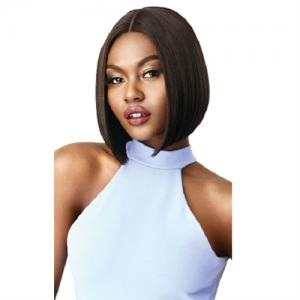 Outre Synthetic Blunt Cut I-Part Swiss Lace Front Wig - AMA