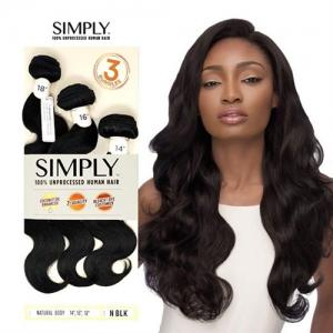 Outre Simply 100% Non-Processed Human Hair Weave Bundle - NATURAL BODY (18,20,22)