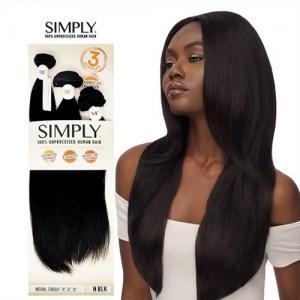 Outre Simply 100% Non-Processed Human Hair Weave Bundle - NATURAL STRAIGHT (10,12,14)