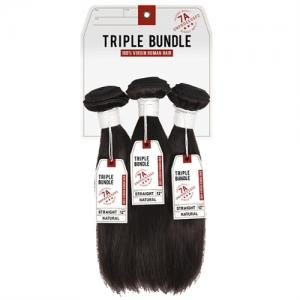 Sensationnel Bare & Natural Unprocessed 100% Virgin Human Hair Triple Bundle 7A STRAIGHT 16,16,16