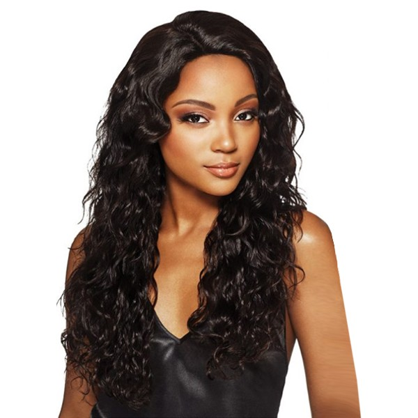 """Outre MyTresses Black Label 100% Unprocessed Human Hair 13"""" X 4""""  Full Lace Wig NATURAL BOHO BODY"""