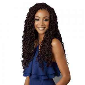 Bobbi Boss Soft & Light Kanekalon Premium Fiber Crochet Braid - Curly Locs 18""