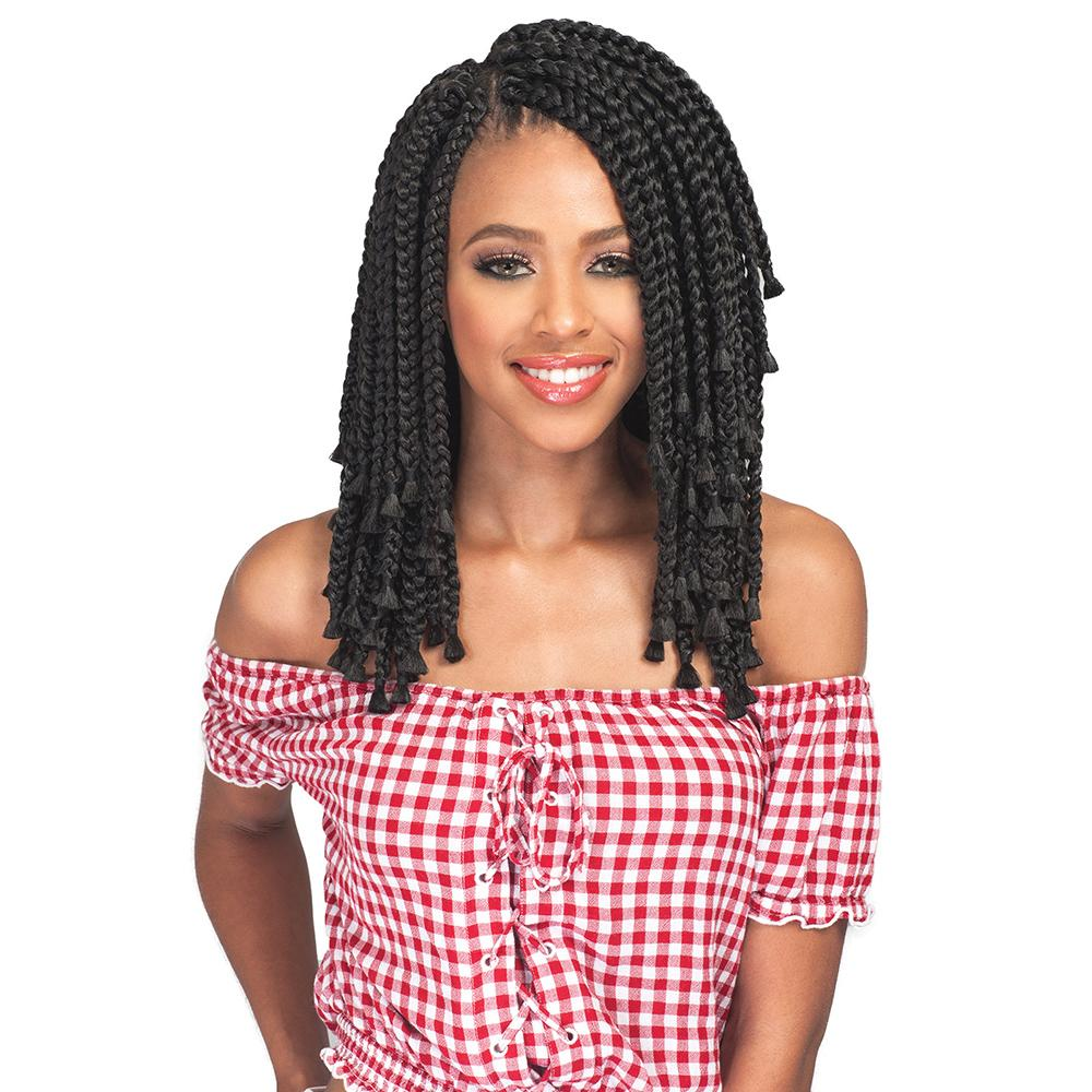 "Bobbi Boss Crochet Hair [Bomba Box Braid | Blunt Tips 10""]"