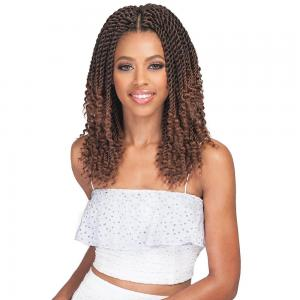 Bobbi Boss Crochet Braid Senegal Twist Curly Tips 10""