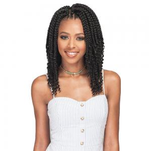 Bobbi Boss Crochet Braid Bomba Box Braid Curly Tips 10""