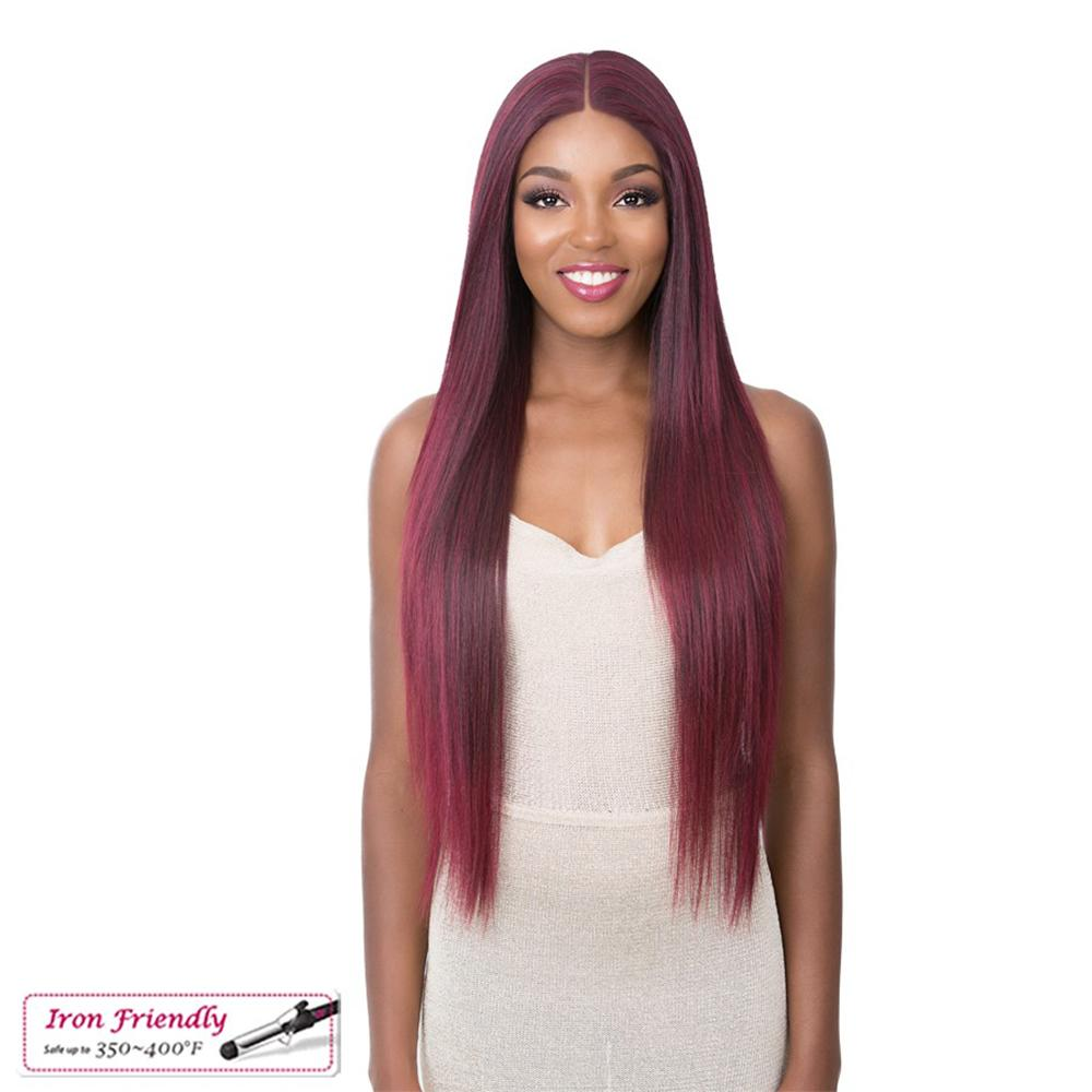 It's A Wig! Synthetic Natural Hairline Frontal S Lace Wig - Desiree