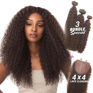 HH TOO MULTI BOUTIQUE 4X4 BRAZILIAN WAVE - Sensationnel 100% Human Hair Weave