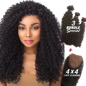 HH TOO BOUTIQUE 4X4 KINKY CURLY - Sensationnel 100% Human Hair Weave