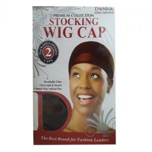 Donna - Premium Collection Stocking Wig Cap - 11052BROWN