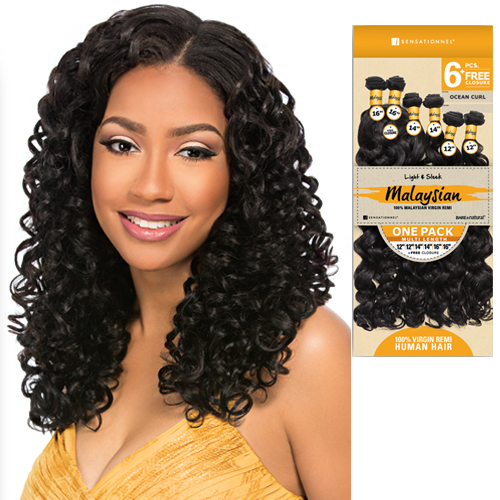 OCEAN CURL - Sensationnel Unprocessed Malaysian Virgin Bare & Natural Weave