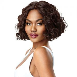 Outre Synthetic Hair Lace Front Wig Swiss Lace I Part Veda