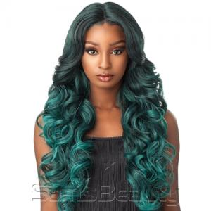Sensationnel Synthetic Lace Front Wig Empress Edge Natural Center Part Trissa