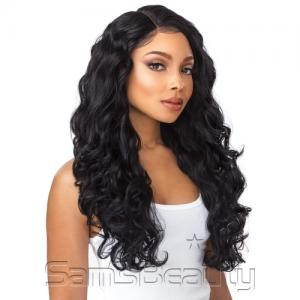 "Sensationnel Synthetic Lace Front Wig Empress Edge Boutique Bundles 6"" Deep Part Body Wave"