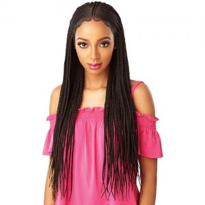 Sensationnel Synthetic Hair Lace Front Wig Cloud 9 Swiss Lace 13X5 Lace Parting Braid Lace Wig Fulani Cornrow