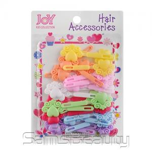 Joy Kid Collection Colorful Heart Hair Barrettes 24Pcs