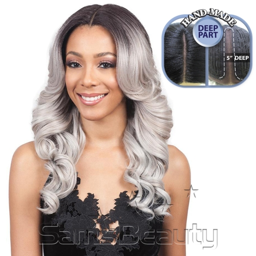"Bobbi Boss Synthetic Hair Lace Front Wig MLF213 Swiss Lace 5"" Deep Part Rayla"