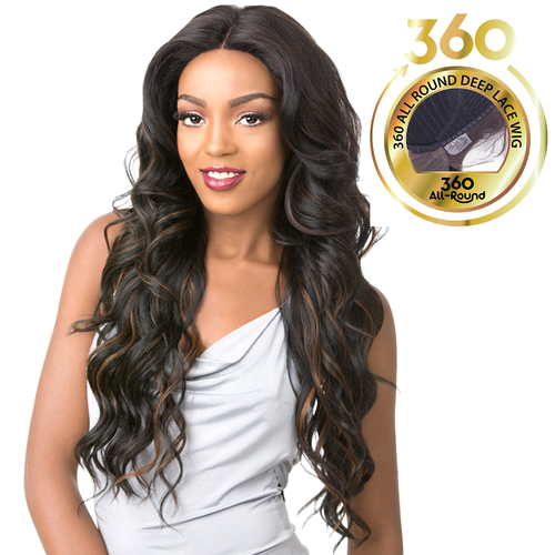 It's A Wig Human Hair Blend 360 All Round Deep Lace Wig 360 Lace Stana