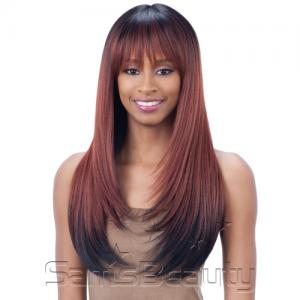 FreeTress Equal Synthetic Hair Lace Front Wig Hand-Tied Italian Lace Bang Brisa