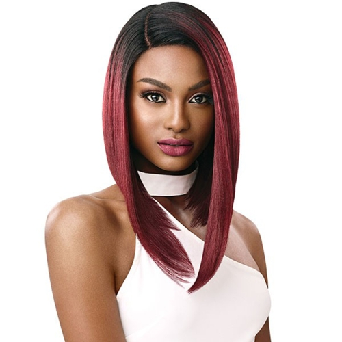 Outre Synthetic Hair Lace Front Wig Swiss Lace I Part Talia