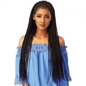 Sensationnel Synthetic Hair Lace Front Wig Cloud 9 Swiss Lace 13X5 Lace Parting Braid Lace Wig Side Part Cornrow