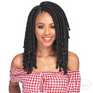 Bobbi Boss Synthetic Braid - BOMBA BOX BRAID BLUNT TIPS 10