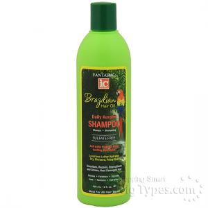 Fantasia IC Brazilian Hair Oil Daily Keratin Shampoo 12oz