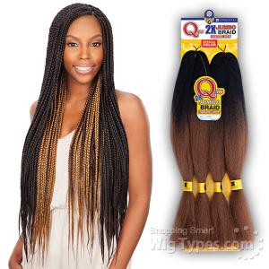 Freetress Synthetic Braid - 2X QUE PREMIUM SOFT JUMBO BRAID (ombre color)