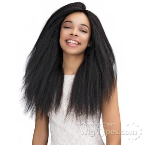 Janet Collection 100% Natural Virgin Remy Human Hair 360 Circular Frontal Lace Wig - 360 LACE PERM STRAIGHT WIG 26