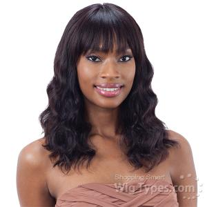 Mayde Beauty 100% Human Hair Lace Bang Frontal Wig - LOOSE DEEP