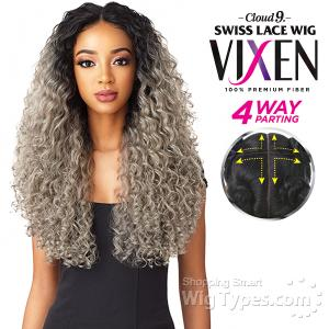 Sensationnel Synthetic Hair Cloud 9 Vixen Multi Part Swiss Lace Wig - DEEP SPIRAL 24 (4way multi parting lace)